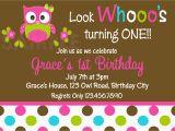 Owl Birthday Invitations Girl Printable 1st Birthday Invitations Girls Owl Party