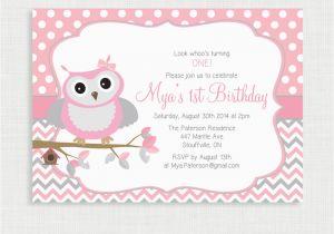 Owl Birthday Invitations Girl Printable Invitation Picture