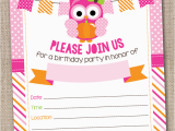 Owl Birthday Party Invites Ink Obsession Designs New Pumpkin Owls Printable