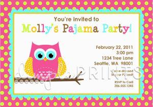 Owl Birthday Party Invites Night Printable Invitation Dimple