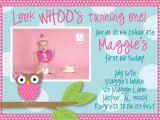 Owl Birthday Party Invites Owl 1st Birthday Invitations Ideas Bagvania Free