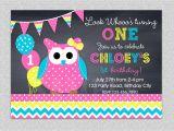 Owl Birthday Party Invites Owl Birthday Invitation Chevron Owl Birthday Party Invitation