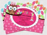 Owl Birthday Party Invites Pretty Owl Birthday Party Invitation Digital Diy by Babyfables