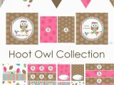 Owl Decoration for Birthday Party Printable Baby Shower Decorations Best Baby Decoration