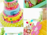 Owl Decorations for 1st Birthday Party Kara 39 S Party Ideas Aloha Owl First Birthday Party Planning