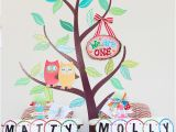 Owl Decorations for 1st Birthday Party My Owl Barn Owl themed Twins First Birthday Party
