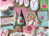 Owl Decorations for Birthday Owl Girl Party Package Dimple Prints Shop