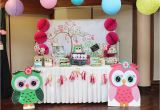 Owl themed Birthday Decorations Owl Birthday Quot Aria Gabrielle 39 S Owl Party Quot Catch My Party