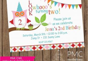 Owl themed Birthday Invitations Cute Owl themed Birthday Party Invitation 1 00 Each with