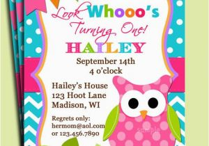 Owl themed Birthday Invitations Girl Owl Invitation Printable or Printed with Free