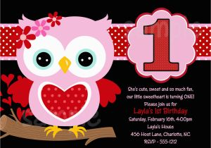 Owl themed Birthday Invitations Owl 1st Birthday Invitations Ideas Bagvania Free
