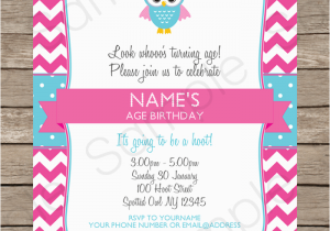 Owl themed Birthday Invitations Owl Party Invitations Pink Birthday Party Template