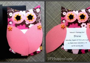 Owl themed Birthday Invitations Owl themed Invitations Diy Inspired