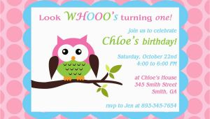 Owl themed Birthday Invitations Printable Owl theme Birthday Party Invitation