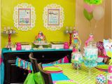 Owl themed Birthday Party Decorations Owl Party Ideas Owl Birthday Party Lillian Hope Designs