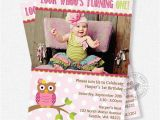 Owl themed First Birthday Invitations Owl Birthday Invitation First Birthday Invitation Girl