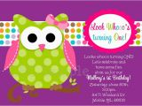 Owl themed First Birthday Invitations Owl Birthday Invitation orderecigsjuice Info