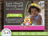 Owl themed First Birthday Invitations Owl First Birthday Invitation Owl theme 1st by Benevolentink