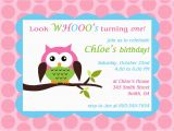 Owl themed First Birthday Invitations Printable Owl theme Birthday Party Invitation