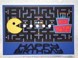 Pac Man Birthday Card Pac Man Card