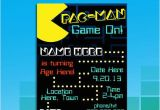 Pac Man Birthday Invitations 57 Best Pacman Party Images On Pinterest Birthdays 80s