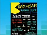 Pac Man Birthday Invitations 57 Best Pacman Party Images On Pinterest Birthdays 80s