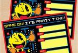 Pac Man Birthday Invitations Free Printable Retro Pac Man Birthday Invitation
