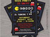 Pac Man Birthday Invitations Items Similar to Pacman Birthday Printable Digital
