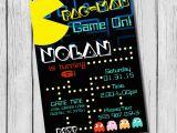 Pac Man Birthday Invitations Pac Man Birthday Invitation Diy Printable by