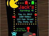 Pac Man Birthday Invitations Pacman Invitations Pacman Party Ideas Pinterest Pac