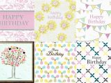 Pack Of assorted Birthday Cards assorted Pack Of 6 Pretty Birthday Greeting Cards Cards