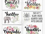 Pack Of assorted Birthday Cards Pack Of 5 assorted Card Note Cards Card Set Thank You Card