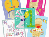 Packs Of Birthday Cards Baby S 1st Birthday Card Multi Pack 5 Cards Per Pack