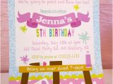 Painting Birthday Party Invitation Wording Art Birthday Party Ideas for Kids Moms Munchkins