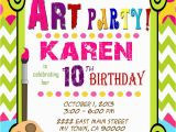 Painting Birthday Party Invitation Wording Art Party Invitation Art Birthday Paint Mis2manos