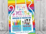Painting Birthday Party Invitation Wording Art Party Invitation Art Party Art Birthday Invitation Art