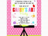 Painting Birthday Party Invitation Wording Painting Art Party Printable Invitation Dimple Prints Shop