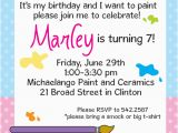 Painting Birthday Party Invitation Wording Painting Personalized Birthday Party Invitations