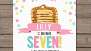 Pancake and Pajama Birthday Party Invitations Pancakes and Pajamas Party Invitation Pancakes Pajamas