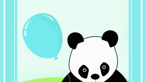 Panda Birthday Card Template Printable 1st Birthday Cards Birthday Party Ideas for Kids