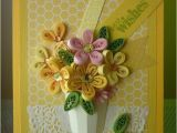 Paper Birthday Cards Online Handmade Yellow Greeting Paper Quilling Card Quot Best Wishes