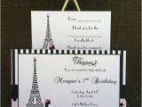 Paris themed Birthday Cards 12 Custom Paris theme Birthday Party by Kristinescreationssd