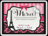 Paris themed Birthday Cards Paris themed Birthday Thank You Cards Di 685ty