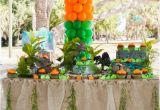Park Birthday Party Decorations Kara 39 S Party Ideas Jurassic Park Dinosaur Boy Birthday