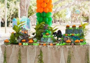 Park Birthday Party Decorations Kara 39 S Ideas Jurassic Dinosaur Boy