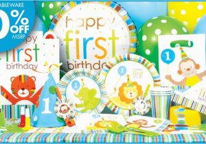 Party City 1st Birthday Decorations 88 Supplies For Boys 50 Awesome