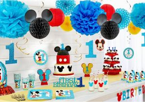 Party City 1st Birthday Decorations Mickey Mouse Supplies