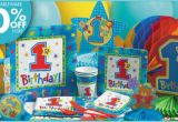 Party City 1st Birthday Decorations Pin One Derful Boys 1st Birthday Party Supplies City Cake