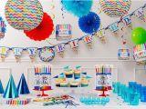 Party City Birthday Decoration Bright Dot Chevron Birthday Party Supplies Chevron