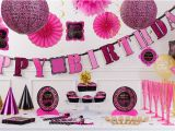 Party City Birthday Decoration Fabulous Birthday Party Supplies Pink Black Damask